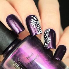 beautiful nail art ideas for all the beautiful women with beautiful nails - . - beautiful nail art ideas for all the beautiful women with beautiful nails – - Purple Nail Art, Purple Nail Designs, Nail Art Designs, Purple Nails With Design, Purple Makeup, Beautiful Nail Art, Gorgeous Nails, Pretty Nails, Beautiful Women