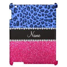 Personalized name blue leopard pink glitter case for the iPad 2 3 4 lowest price for you. In addition you can compare price with another store and read helpful reviews. BuyShopping          	Personalized name blue leopard pink glitter case for the iPad 2 3 4 please follow the link to ...