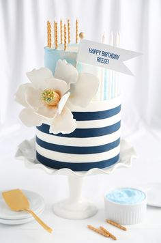Reese's Chocolate-Bourbon Ganache-Filled Birthday Cake! | Sprinkle Bakes