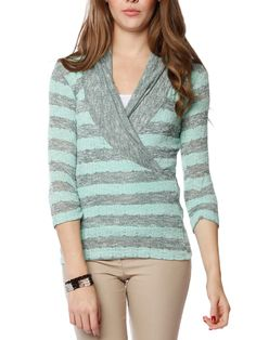 cff18802b4ad6 Wrapped colorblock top  16.99  wrap  colorblock  sweater  top