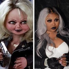 """Shekinah Anderson on Instagram: """"#tbt I killed this look in 2017!!!! The bride of Chucky 😍😍"""" Bride Of Chucky, Trick Or Treat, Halloween Costumes, Halloween Face Makeup, Instagram, Halloween Costumes Uk, Halloween Outfits"""