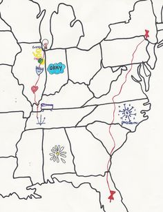 Map of John Green books. One must always have a highlighter in hand when reading one of his books.