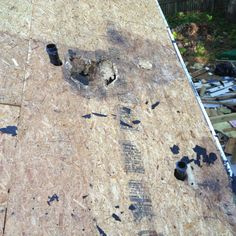 Rotted Roof Deck Near Plumbing Vent Pipe Wood Rot