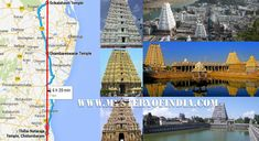 Chidambaram Natrajana Temple, Kanchipuram Ekambareswarar Temple, Srikalahasti Temples are aligned Exactly in a straight line Positions.