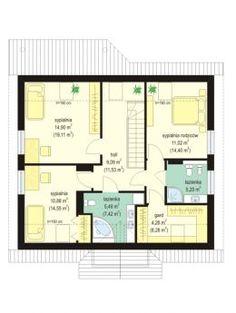 Projekt domu Na wspólnej - rzut poddasza