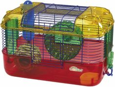 $21.01-$33.95 Complete one level habitat for all hamsters, gerbils and mice. Includes hanging nest for napping and wire rooftop door for easy access. Create a dream environment with expandability ports that allow connectible accessories to be added. Easy to clean construction with deep base. Well ventilated environment. Includes quiet exercise wheel, water bottle and food dish. Super protect tech ...