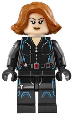 Lego Black Widow Minifigure - Avengers Age of Ultron 76032 76042 76050 - New Marvel Avengers, Avengers Shield, Black Widow Avengers, Lego Marvel Super Heroes, Black Widow Costume, Avengers Birthday, Disney Marvel, Lego Disney, Age Of Ultron