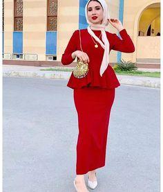 Iranian Women Fashion, Muslim Fashion, Hijab Fashion, Fashion Dresses, Elegant Midi Dresses, Lovely Dresses, Hijab Dress Party, Tea Length Bridesmaid Dresses, Modele Hijab