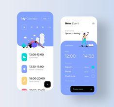 Task Manager App UI by Ron Design #webdesign #uidesign #fit Web Design, App Ui Design, Interface Design, User Interface, Flat Design, Design Thinking, Task Manager, Ui Design Mobile, Design Typography