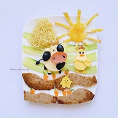 Farm food art by (@kitchen_maotouying)