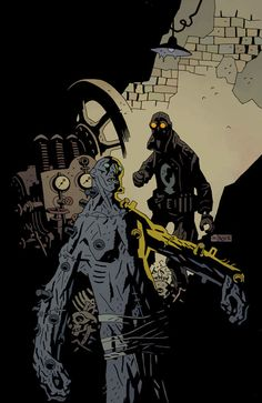 I have come to discover the art of Mike Mignola. There is something about his style I really like.