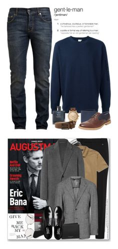 """""""My Dad's collection"""" by mindinha-roro ❤ liked on Polyvore featuring Sunspel, Yves Saint Laurent, Michael Kors, Ben Sherman, Auguste Jaccard, Chanel, Trafalgar, vintage, men's fashion and menswear"""