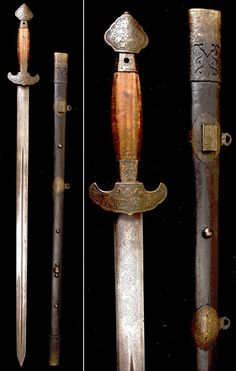 """Qing Dynasty Longquan (龍泉, lit. """"Dragon fountain"""") Seven Star sword with triple laminated steel blade."""