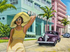 "Pintura Contemporánea - ""South Beach"" (Arte original de www.jacksiegelartist.com)"
