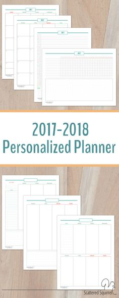 This planner is full of monthly planning pages, two different weekly layouts to choose from and comes with a set of dividers and matching tabs to help you organize your planner they way you like it.