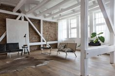 Loft in Berlin 02 850x566 Santiago Brotons Design a Clean and Stylish Loft Apartment in Berlin