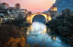 A 16th Century Ottoman Bridge in Mostar. Visit our website: www.tourguidemostar.com #travel #pocitelj #mostar #tourguidemostar #bosniaandherzegovina #medieval #explore #travelworld #starimost #oldbridge #visitmostar #unesco