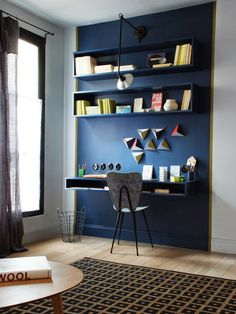 You won't mind getting work done with a home office like one of these. See these 20 inspiring photos for the best decorating and office design ideas for your home office, office furniture, home office ideas Workspace Inspiration, Interior Inspiration, Furniture Inspiration, Home Office Design, House Design, Sweet Home, Interior Architecture, Interior Design, French Interior