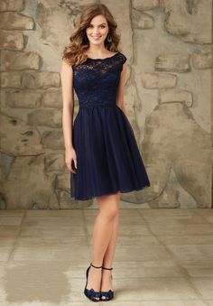 Shop Morilee's Short Tulle Bridesmaid Dress with Fitted Lace Bodice. Bridesmaid Dresses and Gowns by Morilee designed by Madeline Gardner. Sweet Lace and Tulle Bridesmaid Dress Bridesmaid Dresses Under 50, Navy Bridesmaid Dresses, Lace Bridesmaids, Prom Dresses, Dresses 2016, Dresses Online, Bridal Dresses, Cheap Dresses, Elegant Cocktail Dress