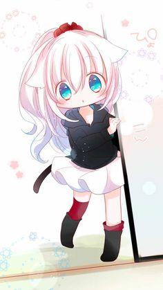Anime Girl Neko, Cute Neko Girl, Art Anime Fille, Chica Gato Neko Anime, Lolis Neko, Anime Child, Anime Girl Cute, Anime Art Girl, Manga Anime