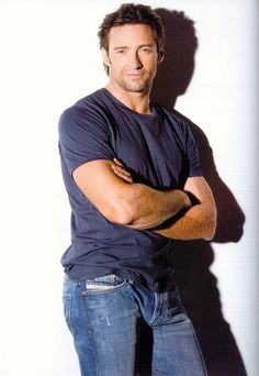 Hugh Jackman. Blue jeans and t-shirts were invented for him. #HughJackman
