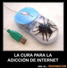 La cura para la adicción de internet.