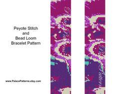 Loom Weaving and Peyote Stitch Bracelet Pattern от PalacePatterns