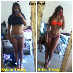 journey-of-yasmin:  A few people have asked for this photo so here it is, same weight this was about 57kg, before and after toning, I did not have a naturally toned stomach after I lost weight :) (oh and i'm sorry about the mess, I'm hopeless)
