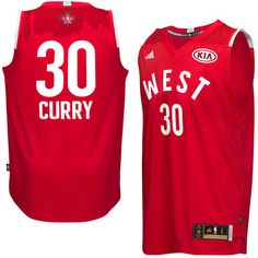 #NBAAllStarTO Western Conference Stephen Curry adidas Red 2016 All-Star Game Swingman Jersey (Click!)