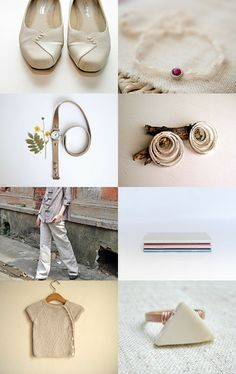 Pale, Geometric and Beige by ilgaz on Etsy--Pinned with TreasuryPin.com