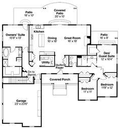 Ranch House Floor Plans Bedroom Love This Simple No Watered