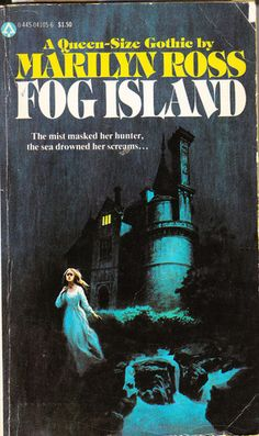 Fog Island by Marilyn Ross Book Cover Art, Comic Book Covers, Vintage Horror, Vintage Gothic, Gothic Books, Pulp Fiction Book, Horror Books, Thriller Books, Gothic Horror