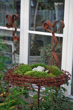 Ooooo - moss and barbed wire?  wonderful!