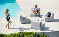 Oceanic Aluminum Outdoor Sofa & Lounge Chair Collection