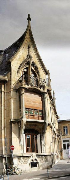 Art Nouveau. Maison Bergeret. Rue Lionnois, 24 Nancy - France