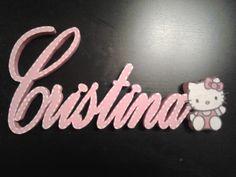 letrero infantil cristina rosa kitty