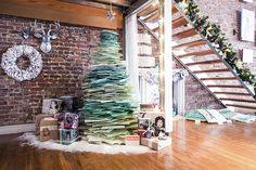 Christmas tree made from books!