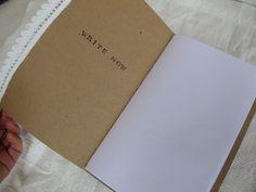 DIY notebook - machine sewing the binding @ mayamade.blogspot.com