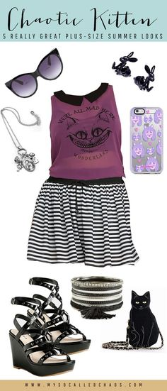 5 Really Great Plus-Size Summer Looks to Rock Your Wardrobe - Chaotic Kitten - Let's not forget that our punky girls like summer clothes too. When it's time to set aside your combat boots and thready sweaters, check out this great dark Alice-inspired look! http://mysocalledchaos.com/2016/05/plus-size-summer-looks.html