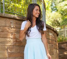 Mint To Be - The LJ Mint Pleated Skirt! #styledsweet #laurenjames