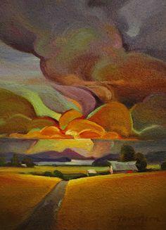 "Contemporary Painting - ""Harvest Storm"" (Original Art from Mac Stevenson)"