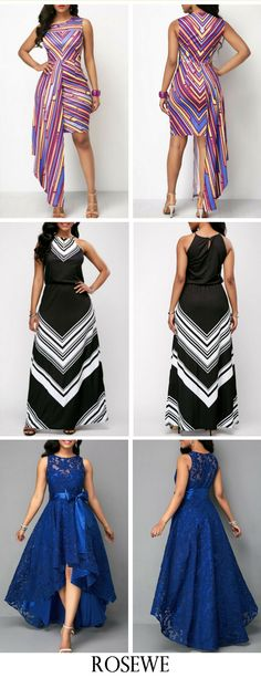 High Waist Belted Lace Panel Maxi Dress.#Rosewe#maxidress#lacepanel