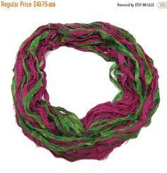 SALE New! Premium Sari Silk Chiffon Printed Ribbon ,  100g, J-K