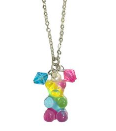 KanDi Jewelry - Rainbow Striped Gummy Bear Necklace
