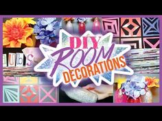 DIY Room Decor Decorations ✽ Using Recycled Items! - YouTube