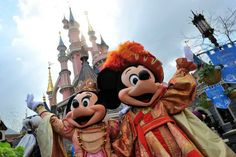 Mickey and Minnie hold court in New Orleans Square at Disneyland Park every…