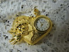Stevenson Collectible Brass Miniature Quartz Novelty Clock I Love You Cupid