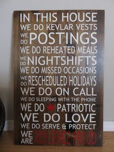 RCMP Family Sign