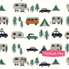 Beach Mod Circa 60 Happy Camping , Birch by Monaluna, $16.50