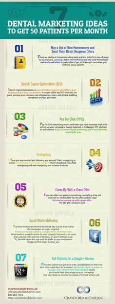 7 Dental Marketing Ideas. Smile Savvy, dental internet marketing @ www.smilesavvy.com #SmileSavvy #dentalinternetmarketing